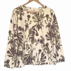 Northern Reflections floral long sleeve shirt L